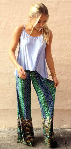 cute pants outfits for teens 2015 Cute Pants Outfits, Girl Outfits, Casual Outfits, Bohemian Mode, Bohemian Style, Exuma Pants, Boutique Fashion, Love Fashion, Womens Fashion