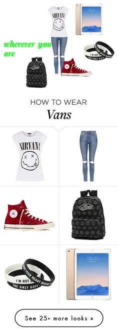 """wherever you are"" by alicyafullbuster on Polyvore featuring Topshop, Converse and Vans"