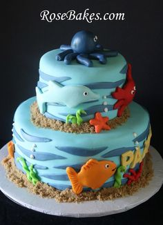 "under the sea cakes | Under the Sea"" Party: Cake, Cupcakes & Cookies!"