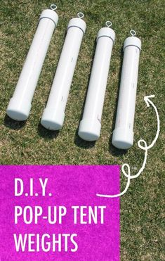 DIY Tent Weights for EZ up canopy-style tents.
