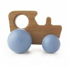 childrens wooden tractor toy