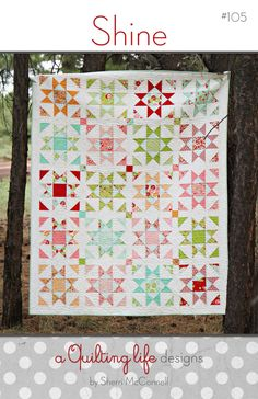 Paper Pattern for Shine Quilt by SherriQuilts on Etsy, $8.95