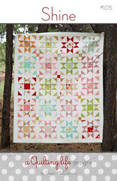 Paper Pattern for Shine Quilt van SherriQuilts