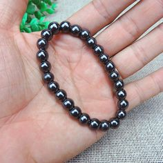 Weight Loss Round Black Stone Magnetic Therapy Bracelet Health Care Charm Braclets for Unisex Women Women Jewelry Accessory Charm Bracelets For Girls, Charm Braclets, Cheap Charm Bracelets, Silver Charm Bracelet, Silver Charms, Bracelets For Men, Silver Bracelets, Fashion Bracelets, Ankle Bracelets