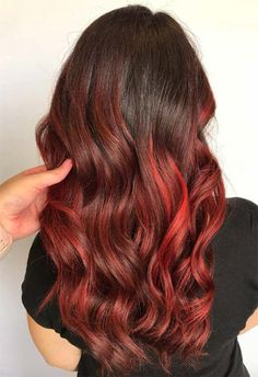 63 Hot Red Hair Color Shades to Dye for: Red Hair Dye Tips & Ideas - 63 Hot Red Hair Color Shades to Dye for: Red Hair Dye Tips & Ideas - Red Balayage Hair, Red Ombre Hair, Dyed Red Hair, Bright Red Hair, Purple Hair, Dyed Tips, Hair Dye Tips, Hair Color Shades, Hair Color Dark