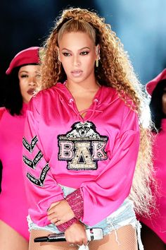 Beyoncé performing at the 2018 Coachella Valley Music and Arts Festival