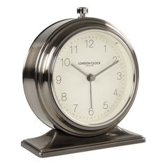 The Cambridge alarm clock by the London Clock Company is uniquely beautiful with a classic twist. With a Gunmetal finish, the Cambridge measures in height. Using the highest quality silent movem. Tabletop Clocks, Mantel Clocks, Anniversary Clock, Modern Tabletop, Recycled Brick, London Clock, Desktop Clock, Brick Molding, Shape Pictures