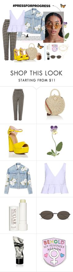 """""""She had everything she needs within herself."""" by mhayes11 ❤ liked on Polyvore featuring Topshop, Barneys New York, Rebecca Taylor, Elizabeth and James, Therapy, Ann Demeulemeester, Aesop, Mudd, purplepower and internationalwomensday"""