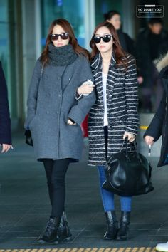 SNSD YoonA and Jessica @ Airport