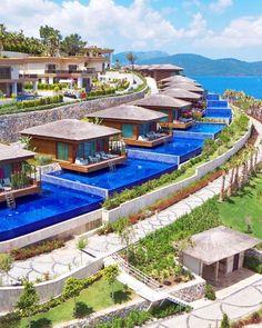 Turkey & Hotels & Türkiye , The Bodrum by Paramount , Familienfreundliche Hotels, Beach Hotels, Beach Resorts, Design Hotel, House Design, Paramount Hotel, Turkey Hotels, Resort Plan, Unique Hotels