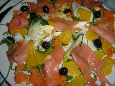 insalata di salmone e arance