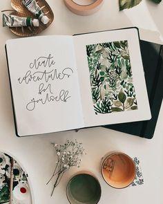 "Tanja von Die Handletterei on Instagram: ""#letternammorgen #watercolordaily #letteringdaily #createadventuresforyourself ✨ . . . #watercolorgreenery #watercoloraddict…"""