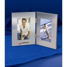 "Liquidationprice.com - Brushed Aluminium Hinged Photo Frame. Holds two 3 1/2"" x 5 photos, $2.00 (http://www.liquidationprice.com/brushed-aluminium-hinged-photo-frame-holds-two-3-1-2-x-5-photos/)"