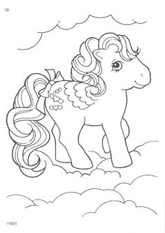 my little pony G1 coloring pages | photo