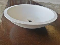 #lavello #cemento #design #bianco