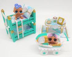 Kids Furniture Sets, Dollhouse Furniture Sets, Kids Bedroom Furniture, Barbie Furniture, Diy For Kids, Crafts For Kids, Art Crafts, Little Mermaid Bedroom, Bunk Bed Sets