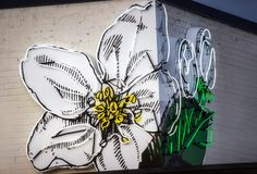 Flower Child Wall Sign Detail