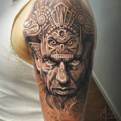 Aztec Warrior http://tattooideas247.com/aztec-warrior/