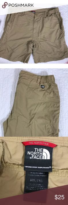 "The North Face Beige Nylon Belted Cargo Shorts 2XL The North Face Men's Beige Nylon Belted Unlined Hiking Cargo Shorts Size 2XL   Waist 42""  Inseam 9.5""  Length 21"" The North Face Shorts Cargo"