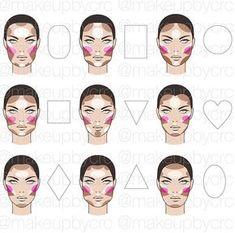 15 Trendy makeup face charts beauty make up Contour Makeup, Contouring And Highlighting, Skin Makeup, Contouring Round Face, Contouring Guide, Contouring Products, Contouring Tutorial, Nose Contouring, Mac Makeup