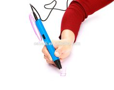 "3D pen is a magic pen with suprise, which can draw in the air and make your ""painting"" or ""doodle"" in 3 dimension. Release your imagination from paper and make your objective in a vivid and lively shape."