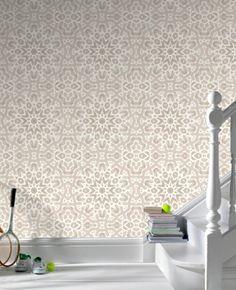 $70.00 Graham & Brown Fracto Beige Cream Wallpaper