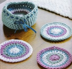 These crocheted coasters are simple to make and will jazz up your coffee table.http://www.goldenfingers.info/crocheted-coasters/