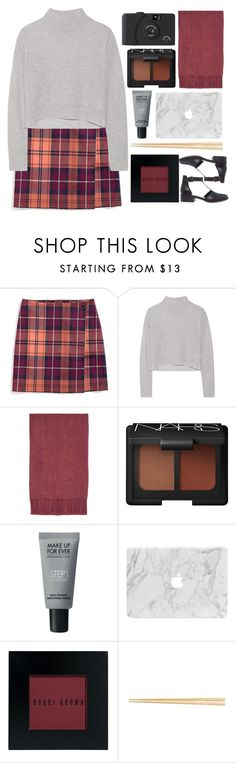 """""""Plaid Skirt"""" by juliehalloran ❤ liked on Polyvore featuring Tommy Hilfiger, Line, Topshop, NARS Cosmetics, MAKE UP FOR EVER, Bobbi Brown Cosmetics and ASOS"""