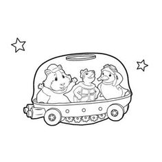 wonder pets christmas coloring pages - photo#43