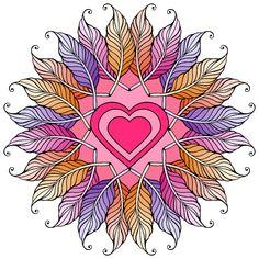 My Coloring Book Mandala Artwork, Mandala Drawing, Design Mandala, Mandala Pattern, Oil Painting App, Painting Tips, Painting Art, Watercolor Painting, Art Fractal