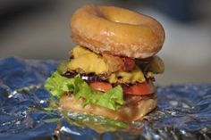 A juicy cheese- and bacon-covered burger (often topped with an egg) surrounded by two succulent doughnuts sounds almost perfect. It can be found at GCS Ballpark in Illinois (the home of the Gateway Grizzlies).    But too perfect can be misleading, and the eventual trip to the ER should quell all future cravings.