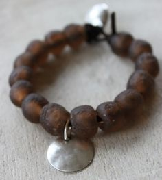 recycled glass beads from Africa, Swedish jewelry designer