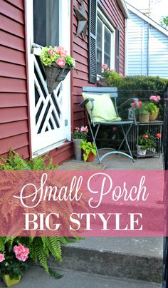 Adding summer style to a small porch