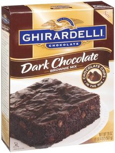 Ghirardelli Chocolate Supreme Brownie Mix, oz Ghirardelli Chocolate Supreme Brownie Mix: Ultra-rich, moist and chewy brownies Chocolate syrup pouch included Kosher Ghirardelli Brownie Mix, Double Chocolate Brownies, Chocolate Mix, Decadent Chocolate, Chocolate Chips, Chocolate Lovers, Chewy Brownies, Best Brownies, Bon Appetit