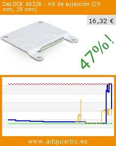 DeLOCK 65326 - Kit de sujección (29 mm, 29 mm) (Accesorio). Baja 47%! Precio actual 16,32 €, el precio anterior fue de 30,80 €. http://www.adquisitio.es/delock/65326-29-mm-29-mm-plata