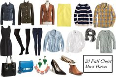Create  a versatile mix and match wardrobe for fall with 20 basics. Tons of options!