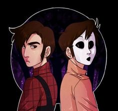 Marble Hornets - Tim/Masky Fore-runner to Backstabber (Masky's shadow, has same rebellious nature) Creepypasta Masky, Slenderman Proxy, Creepy Pasta Family, Eyeless Jack, Jeff The Killer, My Demons, Urban Legends, Hornet, Anime