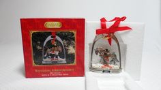 Produced in New in box. Ebay Shopping, Snow Globes, Ornaments, Box, Christmas, Decor, Green Houses, Xmas, Snare Drum