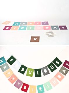 Negative alphabet garland with printable template