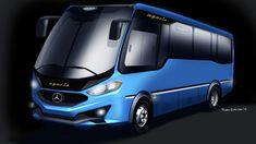 Bus sketches on Behance Bus Art, Mercedes Benz Maybach, Luxury Motorhomes, Luxury Bus, Daimler Benz, Bus House, Bus Coach, Truck Design, Mode Of Transport