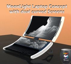 MoonLight Laptop Concept with dual curved Screens ~ Technosaavy !