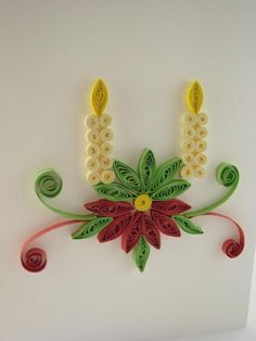 quilling christmas | ... handmade - quilling art: FQ034 - Merry Christmas - 10 lei vanduta