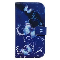 8cc62da1f2b Amazon.com: Bfun Packing Purple Butterfly Card Slot Wallet Leather Cover  Case for Samsung Galaxy S3 I9300: Cell Phones & Accessories