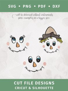 Scarecrow face SVG girl and boy face Halloween Svg digital cut file scarecrow svg clipart Cricut Silhouette - DXF PDF png svg SVG Scarecrow face SVG girl and boy face Halloween Scarecrow Face, Scarecrow Crafts, Fall Scarecrows, Scarecrow Ideas, Scarecrow Wreath, Dulceros Halloween, Adornos Halloween, Halloween Clipart, Outdoor Halloween