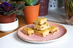 Chocolate Chickpea Protein Blondies (No Flour, Vegan)