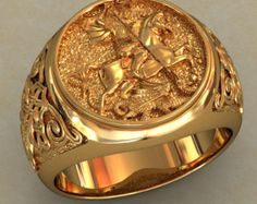 Unique Mens Signet Ring, Gold Signet Ring Men, Unique Men Ring, CZ Men Ring, Men Gold Ring, Rings for Men, Exclusive Men Ring, Everyday ring Men