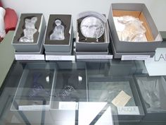 LALIQUE FRENCH COLLECTION MASCOTS, HOOD & DESK ORNAMENTS BOXED with CERTIFICATES