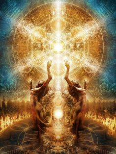 """""""Radiate Love"""".......peel back the layers and expose the warm glowing, shimmering core - your true essence.............................. Visionary art, Alchemistas, beyond the veil"""