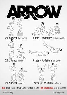 Arrow [Green Arrow] Workout 100 no-equipment workouts by Neila Rey