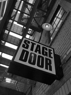 Stage Door. #Broadway #Theater